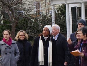 Loudoun County Chair Phyllis Randall visits Waterford