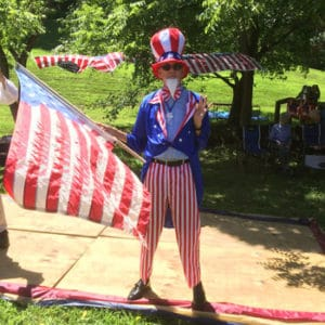 Uncle Sam at the Waterford Virginai 4th of July celebration