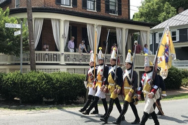 Hessian troops on parade in Waterford VA