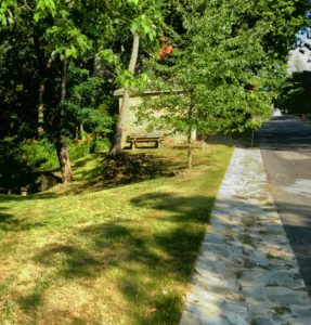Drainage swale completed along the Village Green in Waterford VA