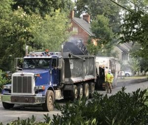 Paving the streets in Waterford Virginia