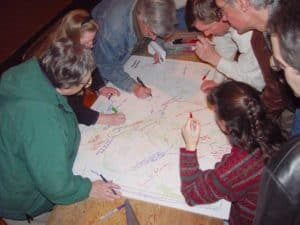 Waterford citizens at the March 2003 traffic calming planning meeting