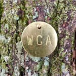 wca tree tag to identify trees planted by the waterford citizens' association